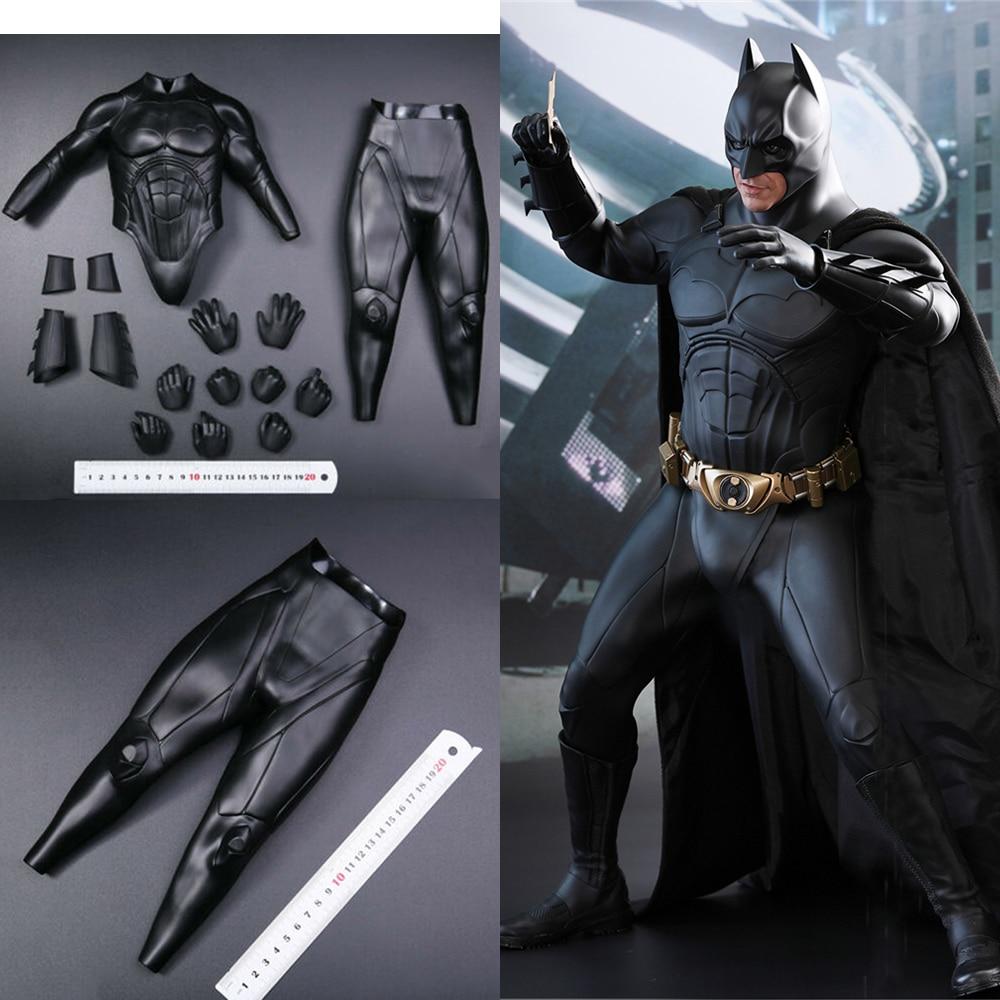 1/4 Scale Figure Clothes Accessory Christian Bale Batman Soft Armor & Pants & Hnads Model for 1:4 Action Figure QS009