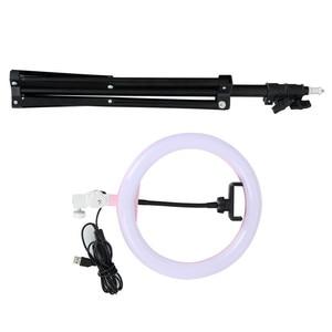 """Image 5 - Tycipy Anillo de luz de 10 """"para cámara de estudio fotográfico, anillo de luz de maquillaje para teléfono móvil, lámpara de luz en vivo con trípode para Smartphone, Canon y Nikon"""