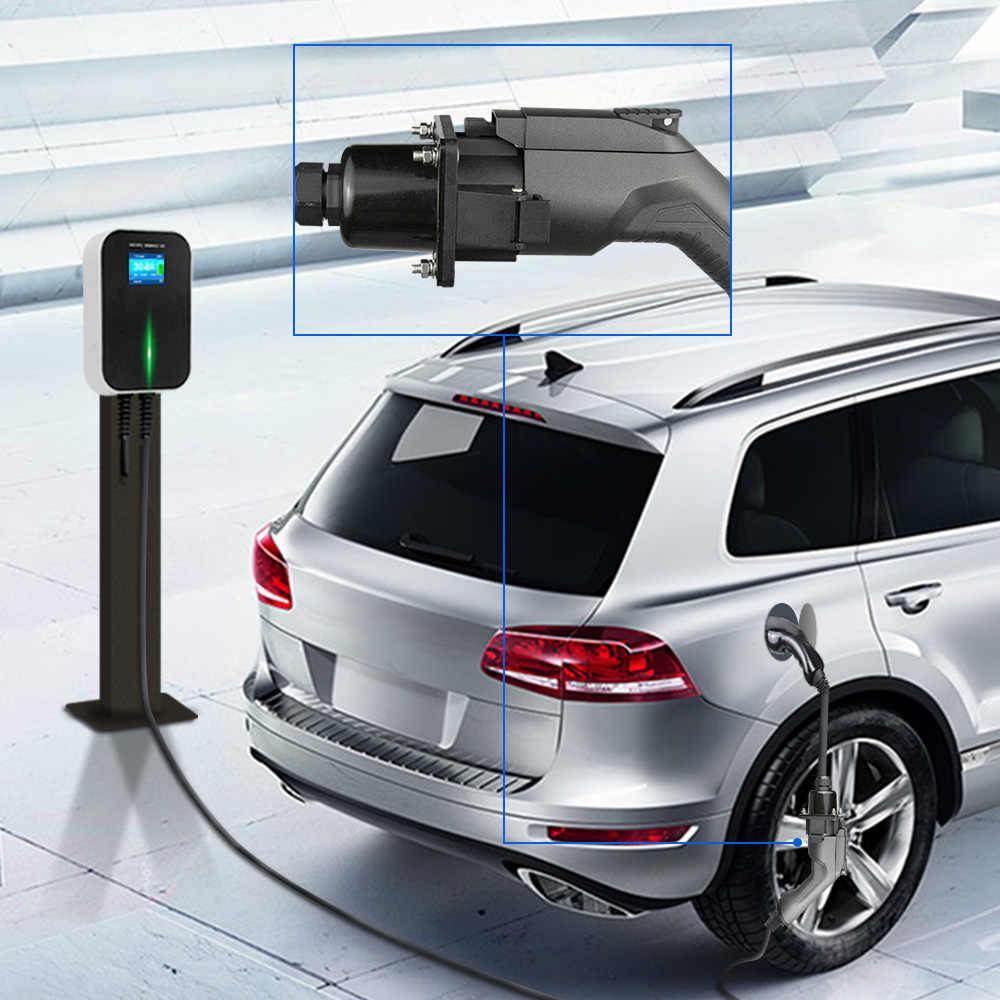 EV Sạc Xe Ô Tô Điện Adapter Evse Charing Cáp Type1 Cửa Hút Gió Để Loại 2 Nữ Cắm Linh Hoạt 32A 1 Pha Cho kia Niro, xe BMW...