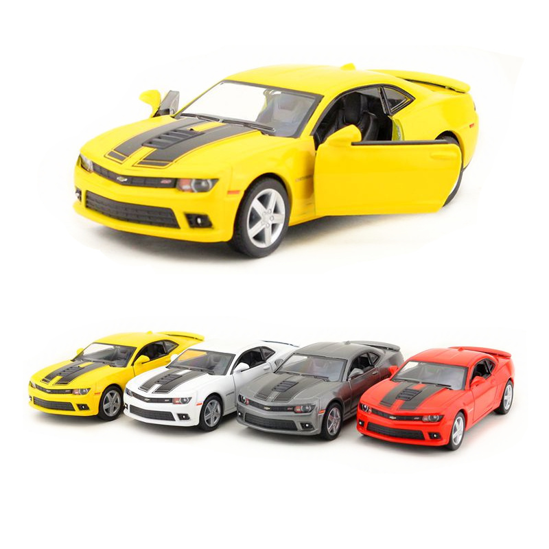 Kinsmart 1:38 5 Inch 2014 Chevrolet Camaro Sports Car Toys Alloy Model Toy Cars Pull Back Car As Gift For Child Boy
