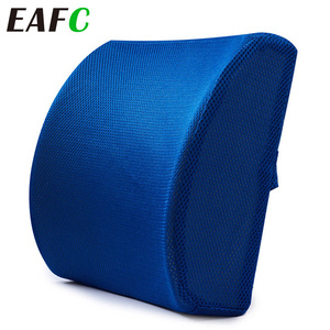 3 Color Soft Memory Foam Lumber Support Back Massager Pillow Back Massager Waist Cushion for Car Chair Home Office Relieve Pain