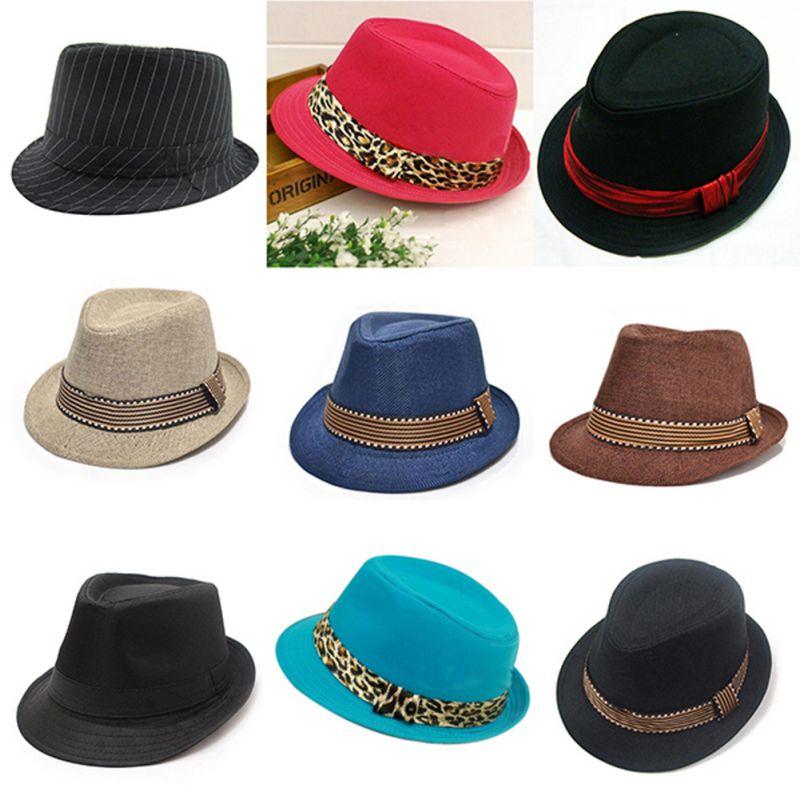 Children Gentleman 2-6Y Hat New Straw Props Bucket Cap Jazz Sun Hats Solid Color Children Boys Panama Girls Photography