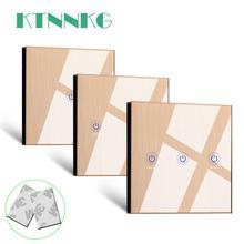 Ktnnkgゴールド 86 壁タッチリモコンワイヤレスrfトランスミッタ強化ガラスパネル + ledランプライトのための 433mhzのEV1527 チップ