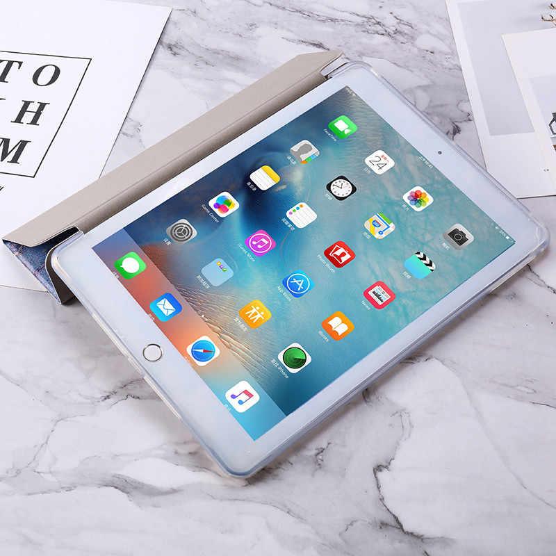 Untuk iPad 11 2020/9.7 2018 2017 5/6th Case 10.2 7th Marmer Kulit Smart Cover untuk iPad 2 Air 1/2 Mini 1/2/3/4/5 Pro10.5/9.7 Case