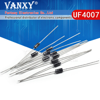 100pcs fr107 1a 800v do-41 fast recovery rectifier diode