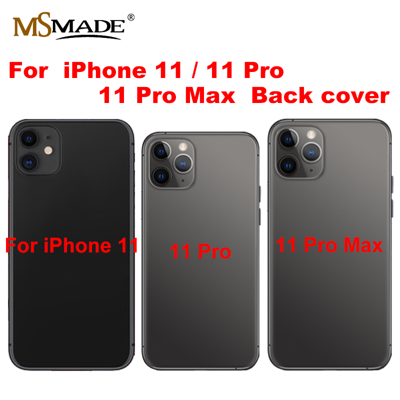 For IPhone 11 Pro Max Battery Back Cover Door Rear Cover + Chassis Middle Frame For IPhone 11 Pro Cover Full Housing Case