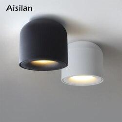 Aisilan Superfície Montado Downlight LEVOU COB Spot light para sala de estar, Quarto, Cozinha, Banheiro, Corredor, AC 90 v-260 v