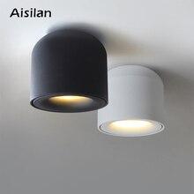 Aisilan superfície montada downlight led cob luz de ponto para sala de estar, quarto, cozinha, banheiro, corredor, ac 90v 260v