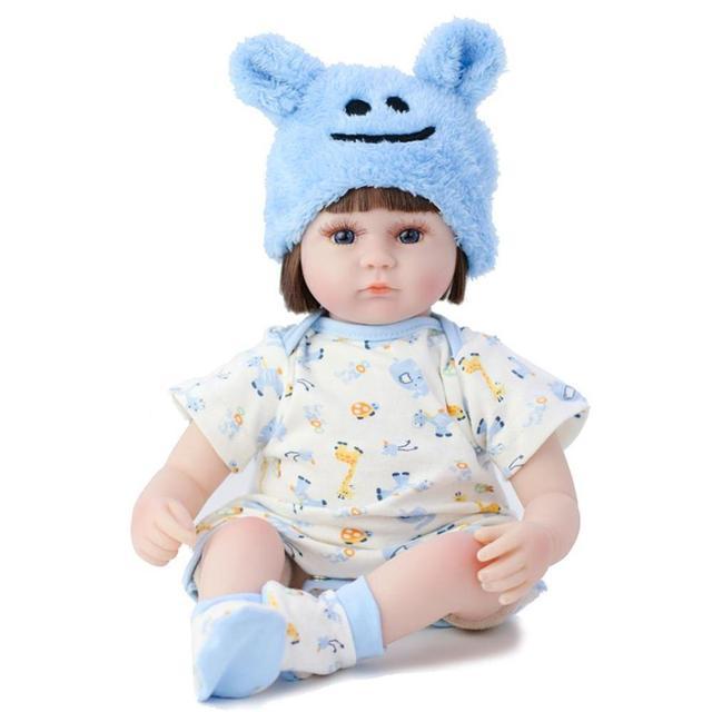 42cm Straight Hair Reborn Baby Doll Adorable Soft Lifelike Doll Simulation Bebe Doll Toys For Girls 2