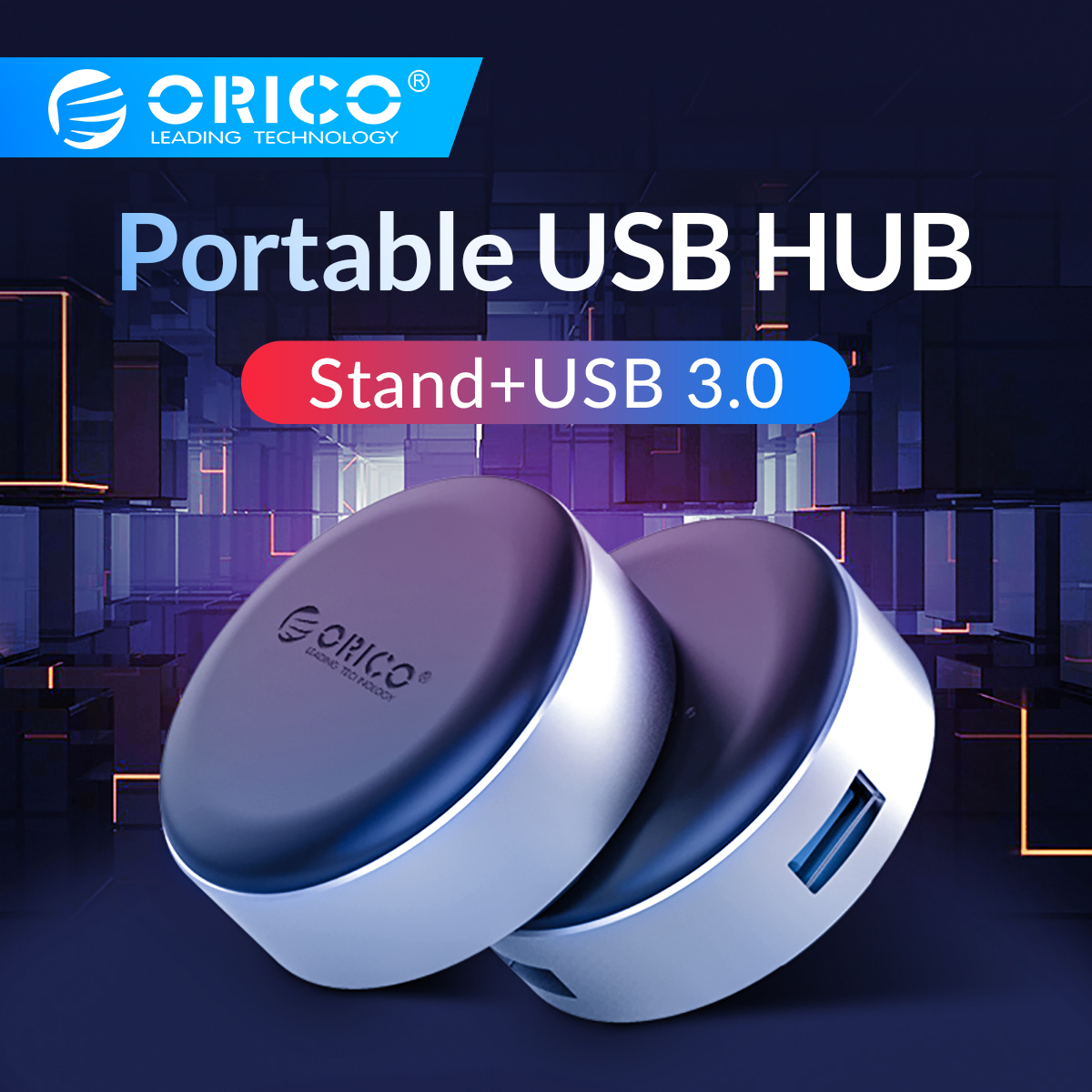ORICO USB3.0 HUB With Laptop Stand Aluminum Portable Cooling Pad Heat Dissipation Skidproof For MacBook Pro USB Splitter Adapter