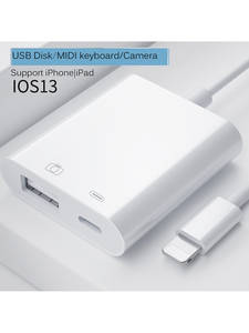 USB OTG Adapter For iPhone iPad iOS13 Lightning to USB 3.0 Adapter U-Disk Mouse Keyboard