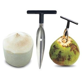Kokos Opener Tool Edelstahl Coconut Opener Wasser Punch Tap Bohrer Stroh Offene Loch Cut Geschenk Obst Öffner Werkzeuge