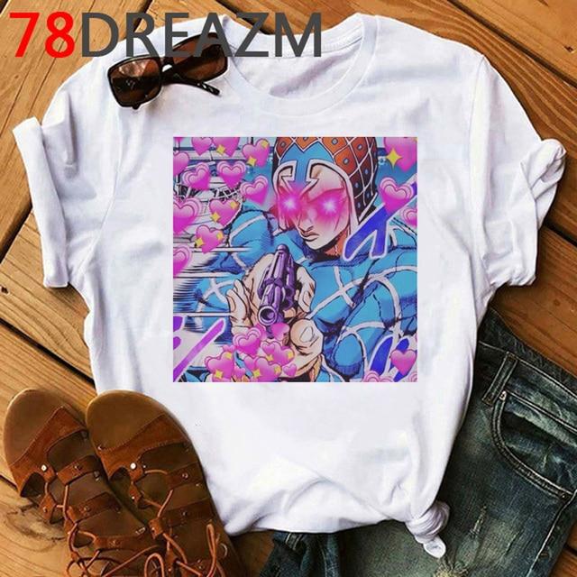 Jojo Bizarre Adventure T Shirt Women Japan Anime Summer Top T-shirt Kawaii Jojo Graphic Tshirt Plus Size Unisex Cartoon Female 2
