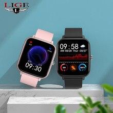 LIGE 2021 новые мужские умные часы IP67, водонепроницаемые Смарт-часы для мужчин женщин фитнес-браслет вызовов через Bluetooth для Android IOS Xiaomi