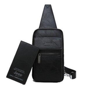 Image 5 - 지프 BULUO 브랜드 패션 슬링 가방 고품질 남자 가방 분할 가죽 대형 어깨 Crossbody 가방 젊은 남자에 대 한