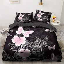 3D Custom Bedding Sets Flower Plant Duvet Quilt Cover Set Comforter Bed Linens Pillowcase King Queen Full Double Home Texitle(China)
