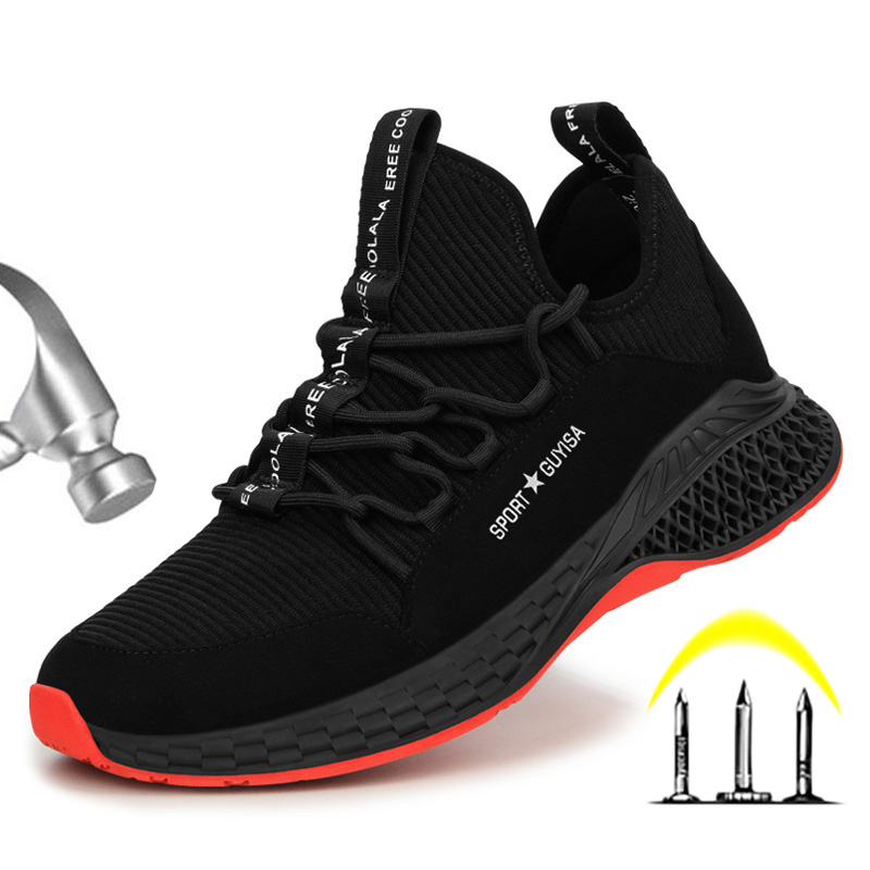Male Shoes Adult Work Safety Boot Steel Toe Safety Shoes Work Sneakers Anti-puncture Indestructible Shoes Safety Boots Men 39 S