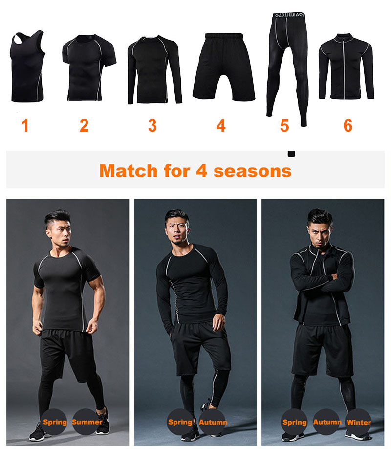 Men Sportswear Compression Sport Suits Quick Dry Running Sets