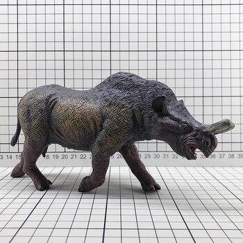 pvc  figure Simulation   prehistoric animal toy model Children's cognitive decoration display Rhinoceros