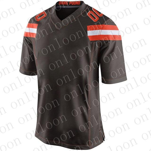 Jeu hommes 2020 Football américain Cleveland Sport fans portent Odell Beckham Jr Baker Mayfield Jarvis Landry Clat Matthews maillots