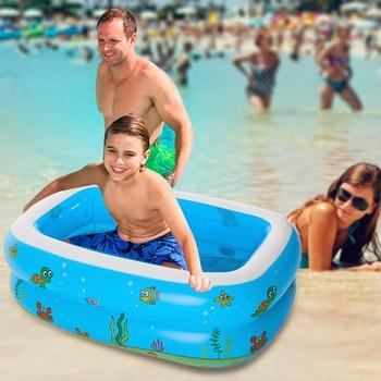Nadmuchiwany basen dla dzieci basen dmuchany rodzina i dzieci nadmuchiwany prostokątny nadmuchiwany kwadratowy brodzik dla dzieci tanie i dobre opinie Z tworzywa sztucznego Inflatable pool hot sale HIGH quality safe drop shipping Low price