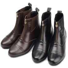 Сапоги для верховой езды из воловьей кожи; рыцарские сапоги; мужские и женские ботинки с барьером; дышащие сапоги для верховой езды для мальчиков и девочек