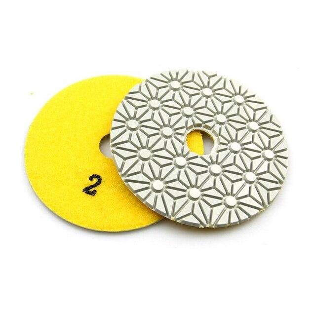 GTBL 3 Pieces 100Mm Diamond Flexible Wet & Dry Polishing Pads 3 Step Floor Polish For Stone Marble Tile