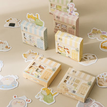 45sheets/box Cute House Stickers Creative Special-shaped Cartoon Stickers Scrapbooking Dairy Stickers Decoration Diy Stationery