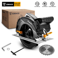 DEKO DKCS1600 Circular Saw Power Tools with Blade, Dust Passage, Auxiliary Handle, High Power and Multi function Cutting Machin