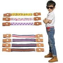 Criança crianças fivela-livre elástico cinto sem fivela estiramento lona cinto para meninos meninas ajustável crianças cintos para calças de brim