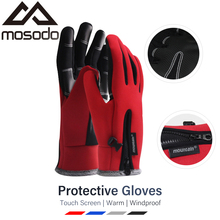 Mosodo Anti Slip Ski Gloves Touch Screen Snow Glove Moto Waterproof Thermal Winter Men Women Fishing