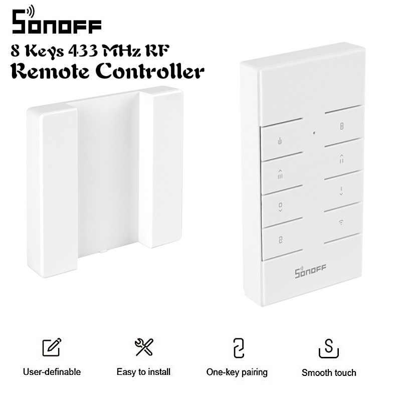 SONOFF RM433 8 klawiszy uniwersalny niestandardowe 433 MHz pilot RF działa z SONOFF RF/Slampher/4CH Pro/TX serii/RF most
