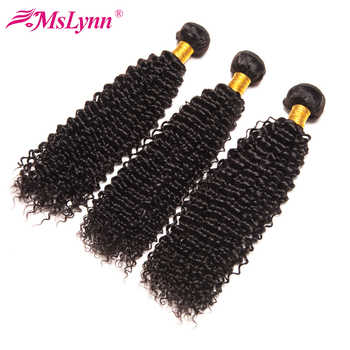 Mslynn Afro Kinky Curly Hair Bundles Deal Brazilian Hair Weave Bundles 100% Human Hair Extensions Remy Hair Nature Color - Category 🛒 Hair Extensions & Wigs