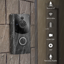 WiFi Wireless Video Doorbell Two-Way Talk Smart PIR Doorbell HD Security Camera High resolution 720p strong waterproof function cheap Dry battery None Standby 200 uA Working 170 mA Within 600 ms Push Notifications within 1 second Two18650 specification batteries