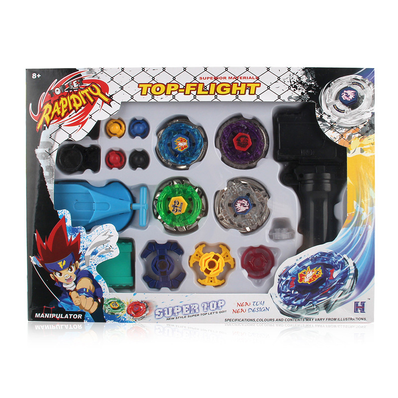 Beyblades Burst Metal Fusion Toys With Dual Launchers Hand Bayblade Spinning Tops Toy Set Bey Blade Classic Toy Children's Gift