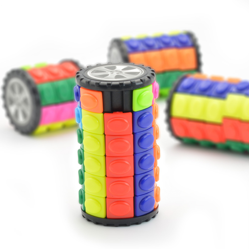Colorful Magic Tower Cube Kids Dimensional Sliding 3D Puzzles Cubo Magico Toys For Children Adult Funny Anti Stress 3*3 *8 Cube