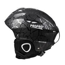 Propro Black Kids Children Adult Snowboard Ski Helmet Veneer Skateboard Skiing Outdoor Sports Breathable Windproof Warm H