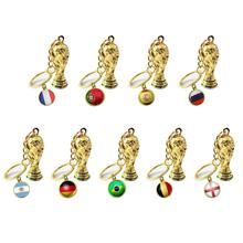 World Cup 2019 Football Fans articles National Flag Trophy Keychain Pendant Sports souvenirs Soccer ball game gift key Ring