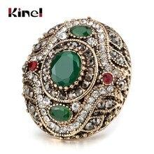 Kinel 2020 yeni varış antika yüzükler kadınlar için altın renk Vintage düğün bantları yüzük setleri nişan takı kristal hediye