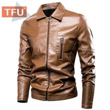 Jacket Spring-Pockets Coat Men Turtleneck Faux Autumn Casual Winter New TFU Business