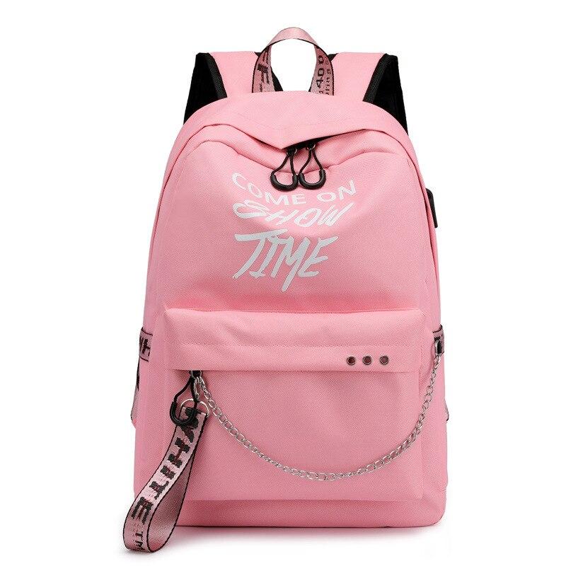 Anti Theft Travel Backpack School Student Loptop Bagpack Fashion Off College White Black Book Bag Backbag For Teenager Boy Girl