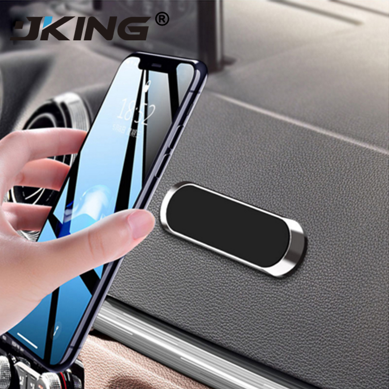 JKING Mini Magnetic Car Phone Holder Metal Plate Magnet Cell Stand For IPhone Samsung Xiaomi In Car Smartphone Mount