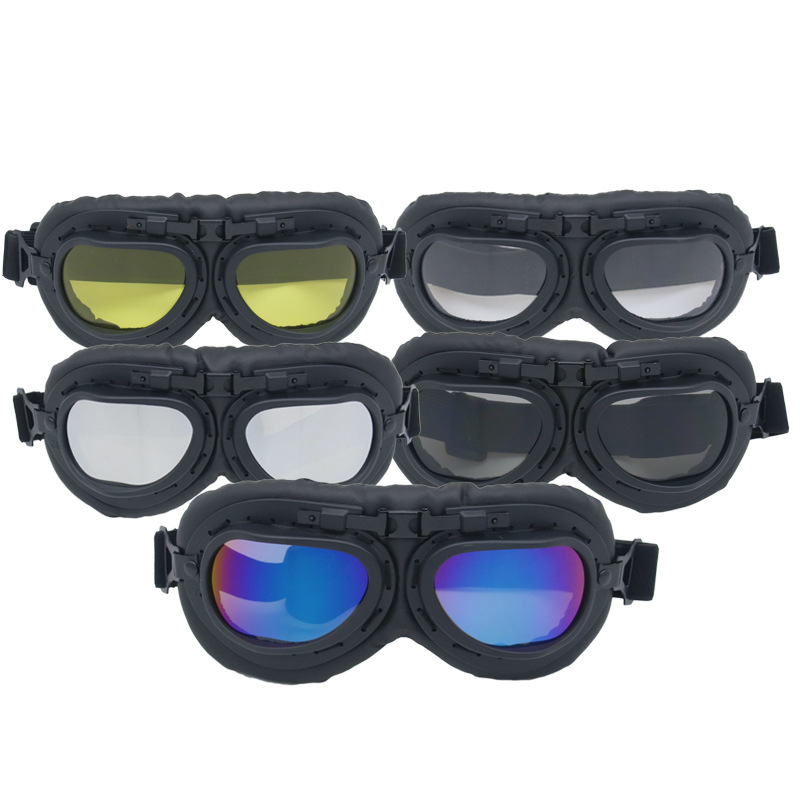 Currently Available Direct Selling Harley Goggles Motorcycle Riding Eye-protection Goggles Retro World War II Glasses Windproof