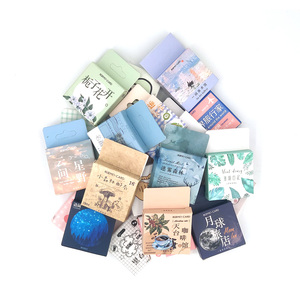1 Box Cute Stationery Stickers Scrapbooking Diary Kawaii Coffee Plant Stickers Diy Vintage Decorative Stickers School Supplies