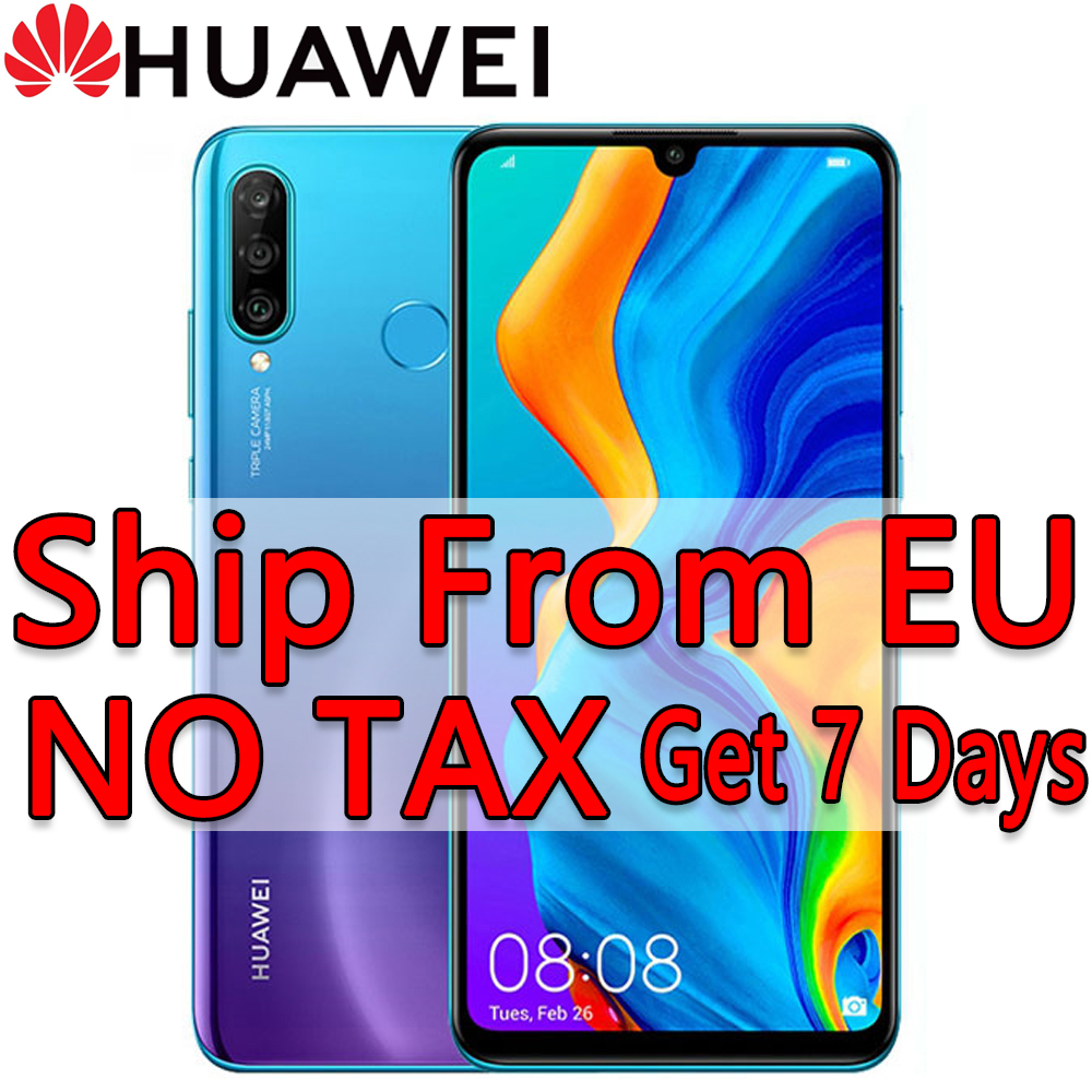 EU in Stock <font><b>Huawei</b></font> <font><b>P30</b></font> <font><b>lite</b></font> 4GB 128GB 64GB <font><b>Smartphone</b></font> 6.15 ' Android 9.0 Blue Black image