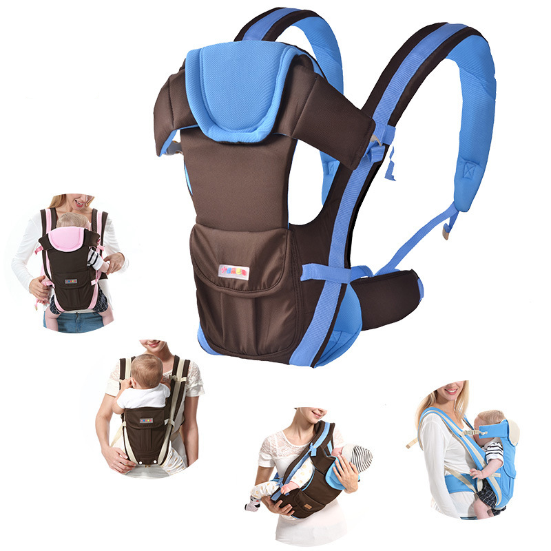 Baby carrier 0 30 Months Breathable Front Facing Baby Carrier 4 in 1 Infant Comfortable Sling Backpack Pouch Wrap Baby|Backpacks & Carriers| |  - title=