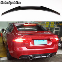 For Jaguar XE 2015~2018 Carbon Fiber Rear Trunk Lip Boot Spoiler Wing
