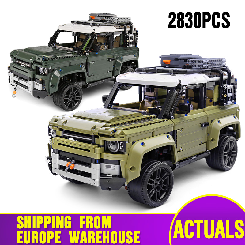 DHL Technic Car Compatible With Legoing 42110 Land SUV Car Rover Defender Assembly Car Model Kids Christmas Toys Building Blocks
