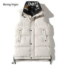 2019 erkek jile yelek kış pamuk yastıklı kolsuz balon ceket mont dış giyim erkek kalınlaşmak yelek 4XL