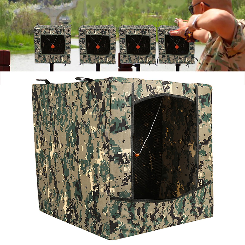 Portable Foldable Camouflage Hunting Recycle Ammo Slingshot Shoot Target Box Airsoft Shooting Target Case for Outdoor Bullseye